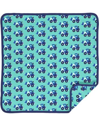 Maxomorra Blanket 70x70 LOADER blue C3480-M493 GOTS