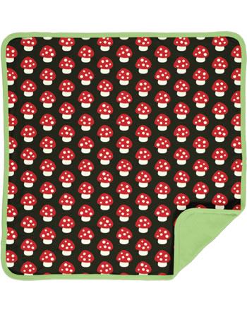 Maxomorra Blanket 70x70 MUSHROOM brown/red C3414-M493 GOTS