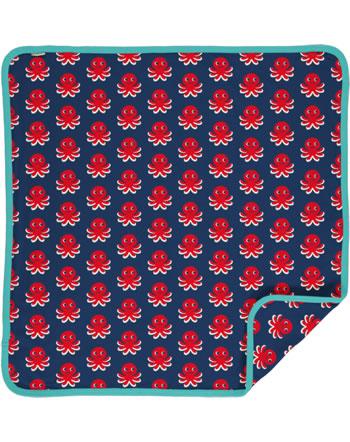 Maxomorra Baby Decke Krabbeldecke 70x70 OCTOPUS blau/rot C3476-M493 GOTS