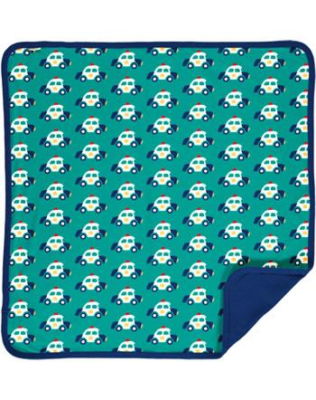 Maxomorra Blanket 70x70 POLICE CAR green C3421-M493 GOTS