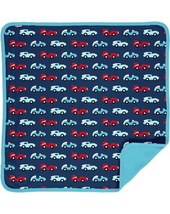 Maxomorra Baby Decke Krabbeldecke 70x70 RACE blau/rot C3426-M493 GOTS