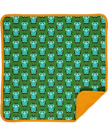 Maxomorra Baby Decke Krabbeldecke 70x70 ROBOT grün C3422-M493 GOTS