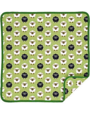 Maxomorra Blanket 70x70 SHEEP green C3482-M493 GOTS