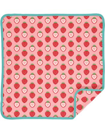 Maxomorra Blanket 70x70 STRAWBERRY pink C3484-M493 GOTS