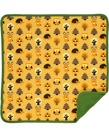 Maxomorra Baby Decke Krabbeldecke 70x70 YELLOW FOREST gelb C3423-M493 GOTS