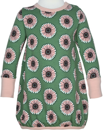 Maxomorra Dress ballon long sleeve CALENDULA green C3433-M485 GOTS