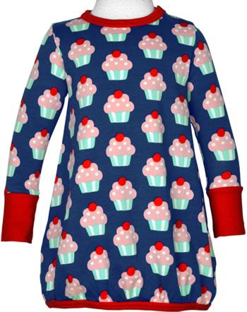 Maxomorra Dress ballon long sleeve CUPCAKE blue C3425-M485 GOTS