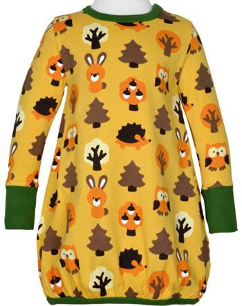 Maxomorra Dress ballon long sleeve YELLOW FOREST yellow C3423-M485 GOTS