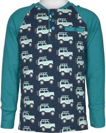 Maxomorra Baseball-Shirt Langarm JEEP ABENTEUER blau M431-D3273 GOTS