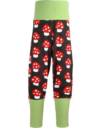 Maxomorra Pants Rib MUSHROOM brown/red C3414-M476 GOTS