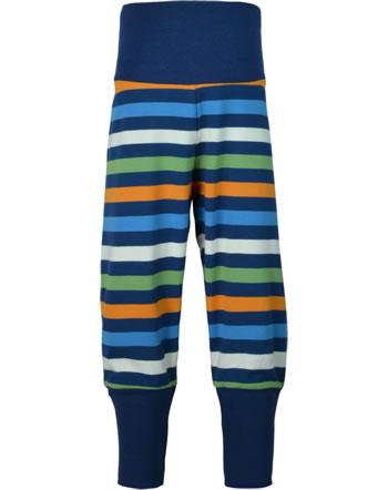 Maxomorra Pants Rib STRIPE stripe navy C3437-M526 GOTS