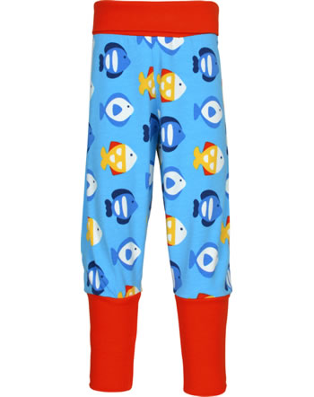 Maxomorra Bund-Hose TROPICAL AQUARIUM blau GOTS M476-C3348