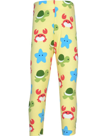 Maxomorra Capri-Leggings BEACH BUDDIES gelb GOTS M384-C3347