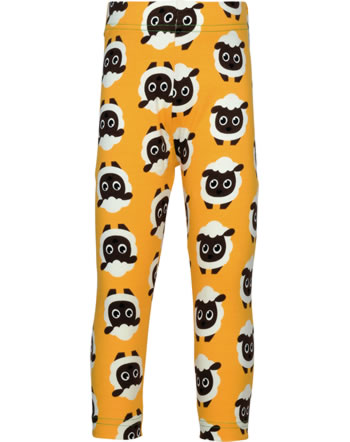 Maxomorra Capri-Leggings CLASSIC SHEEP orange/grün C3501-M577 GOTS