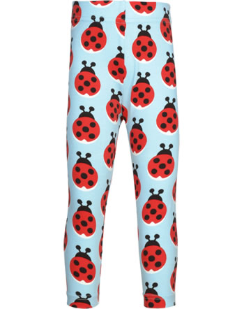 Maxomorra Capri-Leggings LAZY LADYBUG blau GOTS M384-C3344