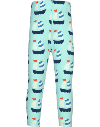 Maxomorra Capri-Leggings SAILBOAT blau GOTS M384-C3346