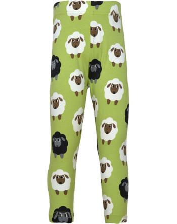 Maxomorra Capri-Leggings SHEEP grün C3482-M384 GOTS