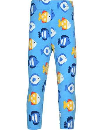 Maxomorra Capri-Leggings TROPICAL AQUARIUM blau GOTS M384-C3348