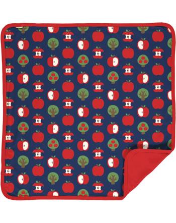 Maxomorra Blanket APPLE blue C3409-M493 GOTS