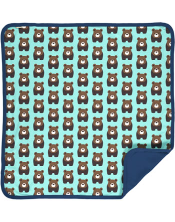Maxomorra Blanket BEAR blue C3407-M493 GOTS
