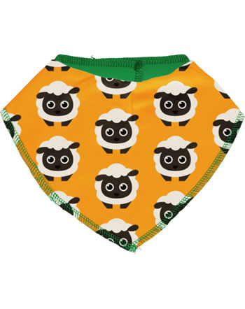 Maxomorra Dreieck-Halstuch CLASSIC SHEEP orange/grün C3499-M574 GOTS