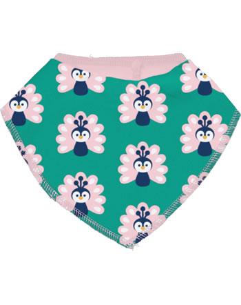 Maxomorra Bib Dribble PEACOCK green/pink C3446-M348 GOTS