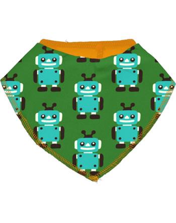 Maxomorra Bib Dribble ROBOT green C3422-M348 GOTS