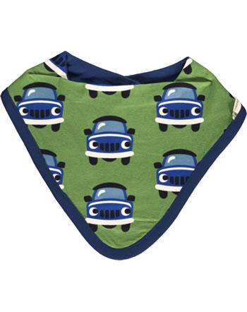Maxomorra Dreieck-Halstuch Velours-Futter CAR grün XA12-23A GOTS