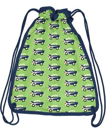 Maxomorra Gym Bag Sweat Turnbeutel CAR grün C3474-M563 GOTS