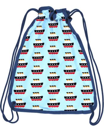 Maxomorra Gym Bag Sweat FERRY blue C3486-M563 GOTS