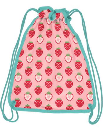 Maxomorra Gym Bag Sweat STRAWBERRY pink C3484-M563 GOTS
