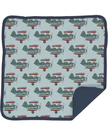Maxomorra Cushion Cover 50x50 AIRPLANE blue C3434-M556 GOTS
