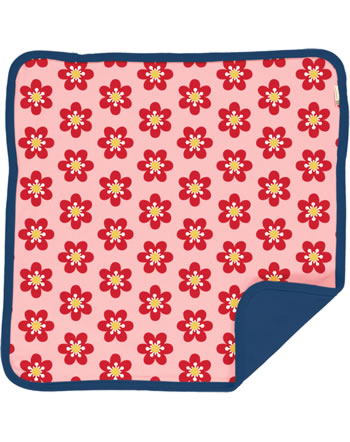 Maxomorra Kissenbezug 50x50 ANEMONE rosa/blau C3430-M556 GOTS