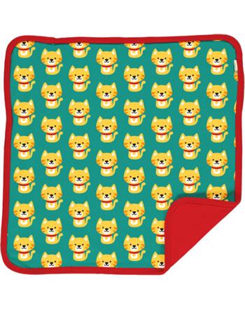 Maxomorra Cushion Cover 50x50 CAT turquoise/red C3429-M556 GOTS