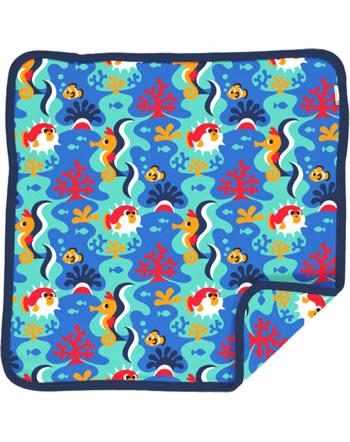 Maxomorra Cushion Cover 50x50 CORAL REEF blue C3491-M556 GOTS