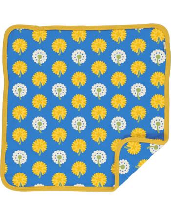 Maxomorra Kissenbezug 50x50 DANDELION blau/gelb C3477-M556 GOTS