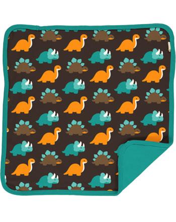 Maxomorra Cushion Cover 50x50 DINOSAURS turquoise/brown C3427-M556 GOTS
