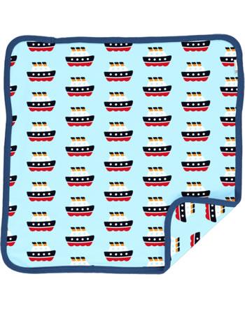 Maxomorra Cushion Cover 50x50 FERRY blue C3486-M556 GOTS