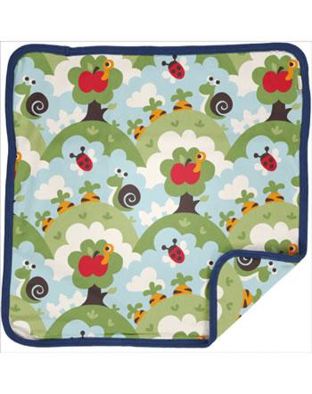 Maxomorra Cushion Cover 50x50 GARDEN blue C3485-M556 GOTS