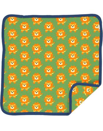 Maxomorra Cushion Cover 50x50 LION green C3487-M556 GOTS