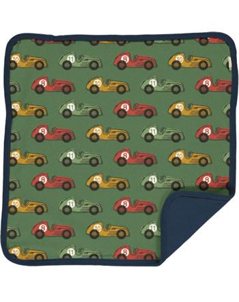 Maxomorra Cushion Cover 50x50 VINTAGE RACE green C3418-M556 GOTS