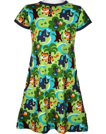 Maxomorra Robe manches courtes JUNGLE vert C3473-M355 GOTS