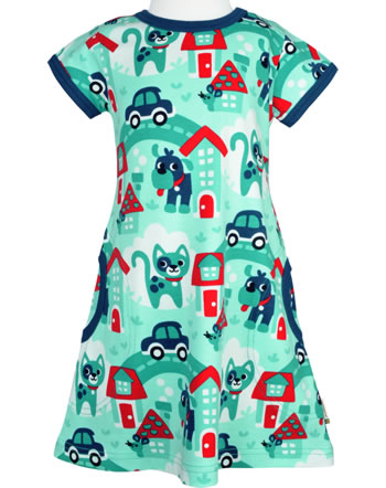 Maxomorra Robe manches courtes TOWN turquoise C3479-M355 GOTS