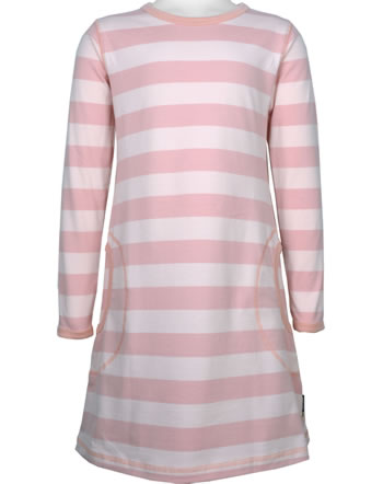 Maxomorra Kleid Langarm Streifen stripe/dusty rose GOTS M515-C3369