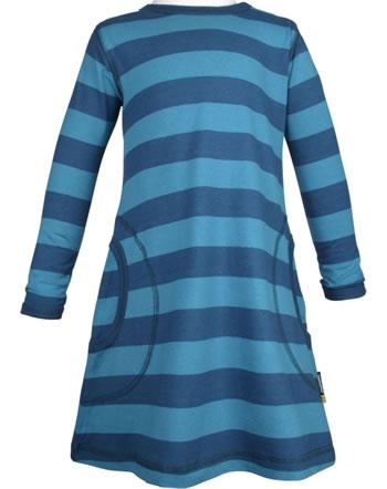 Maxomorra Kleid Langarm Streifen stripe/midnight GOTS M515-C3368