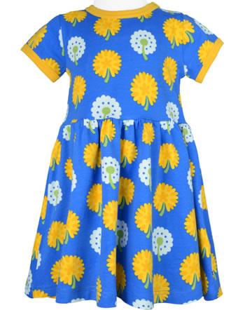 Maxomorra Robe manches courte DANDELION bleu/jaune C3477-M597 GOTS