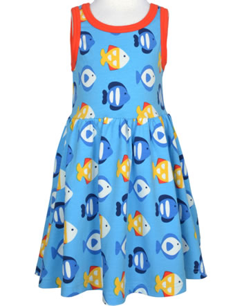 Maxomorra Kleid Träger TROPICAL AQUARIUM blau GOTS M541-C3348
