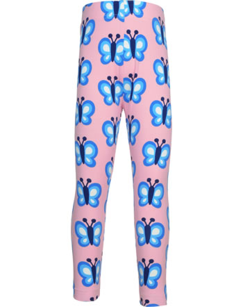 Maxomorra Leggings BLUEWING BUTTERFLY rosa GOTS M474-C3341
