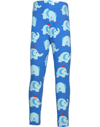 Maxomorra Leggings ELEPHANT FRIENDS blau GOTS M474-C3339