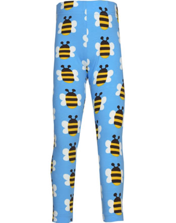 Maxomorra Leggings HUMBLE BUMBLEBEE bleu GOTS M474-C3343